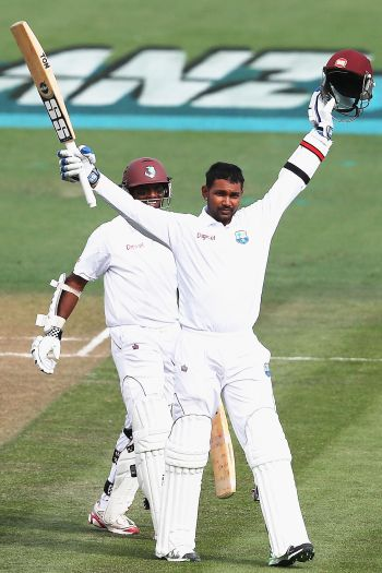 Rediff Sports - Cricket, Indian hockey, Tennis, Football, Chess, Golf - Big partnership revives Windies after collapse