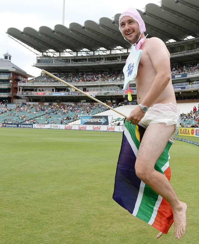Fancy dress winner during Day 4 of the 1st Test match