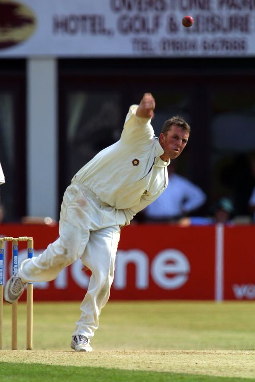 Northamptonshire's Greame Swann in action