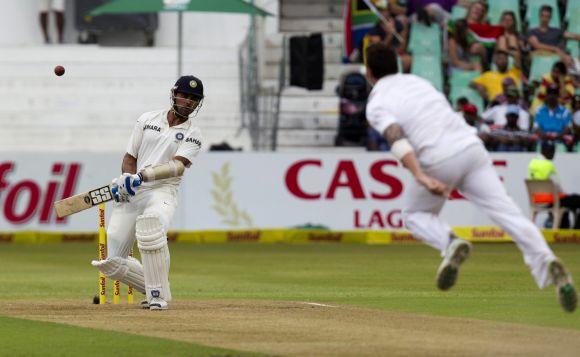 Murali Vijay leaves a ball