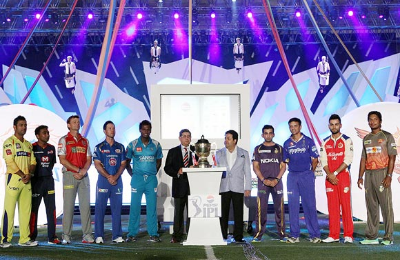 IPL 2013 opened with all the nine team captains taking the ICC Spirit of Cricket Pledge, 'Play hard, play fair'