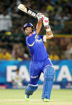 Stuart Binny during the IPL for Rajasthan Royals