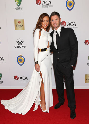 Michael Clarke with his wife Kyly
