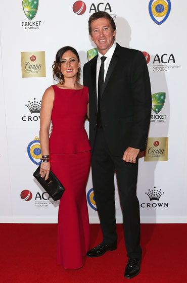 McGrath came with wife Sara