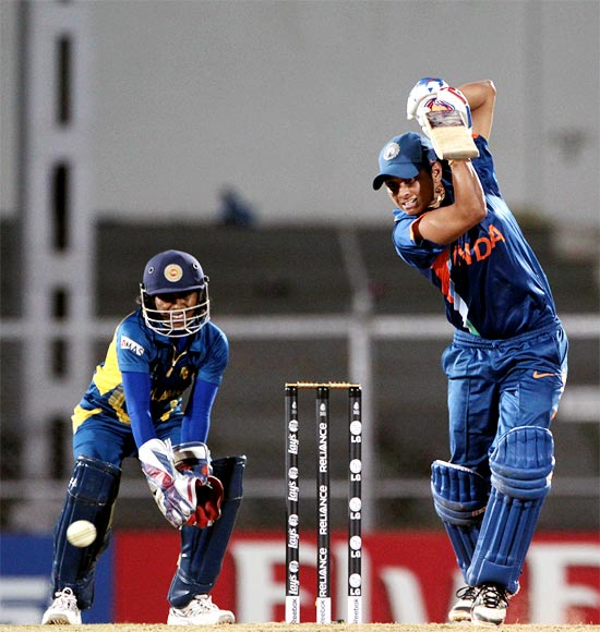 India's Reema Malhotra plays a shot