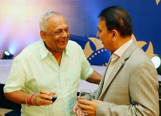 Sunil Gavaskar with Erapalli Prasanna