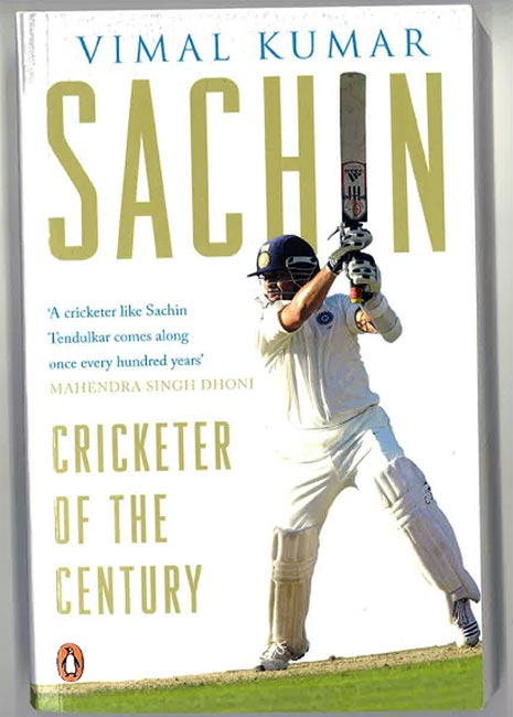 Book cover of 'Sachin - Cricketer of the Century'