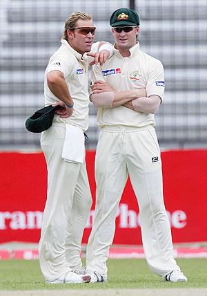 Shane Warne and Michael Clarke