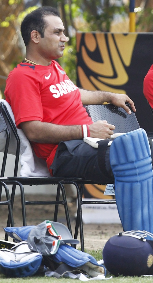 Sehwag looked at ease against the pacers