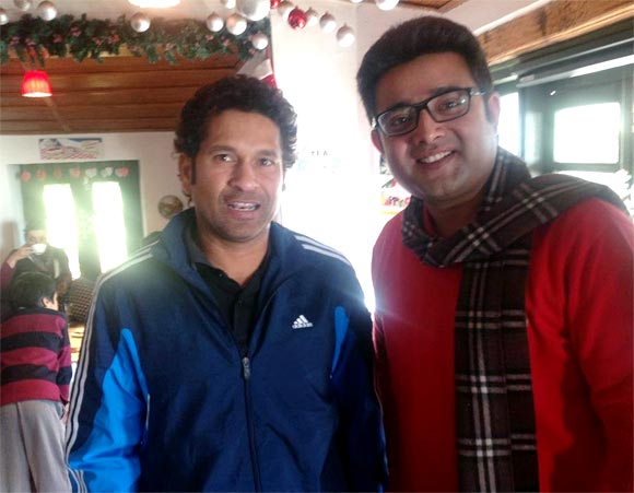 Spotted: 'God of Cricket' Tendulkar in Mussoorie