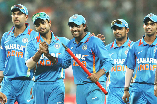 Team India celebrates