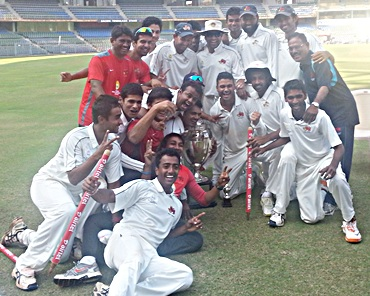 The victorious 2013 Mumbai Ranji Trophy