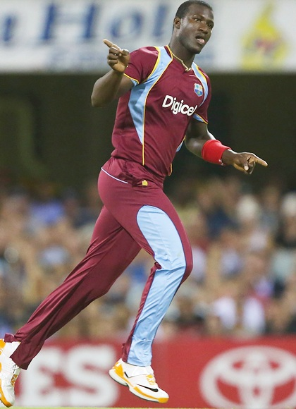 Darren Sammy of West Indies celebrates