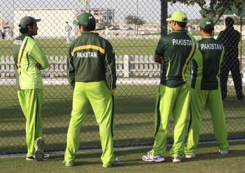 Members of Pakistan cricket team