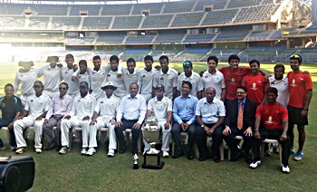 The Mumbai Ranji Trophy team, champions in the 2012-13 season