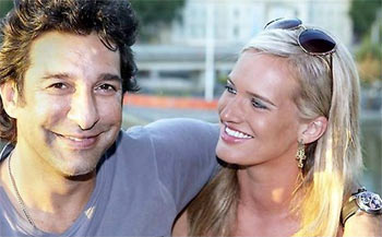 Wasim with girlfriend Shaniera Thompson