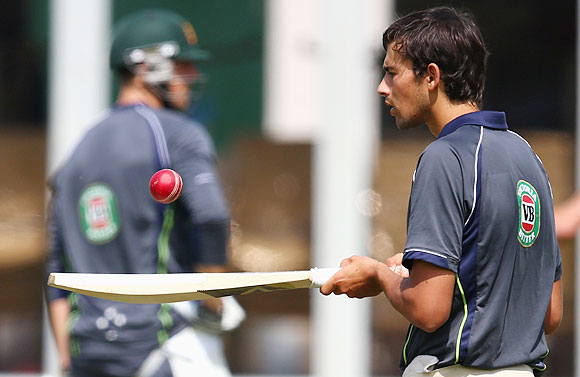Ashton Agar of Australia at a nets session at Lord's on Tuesday