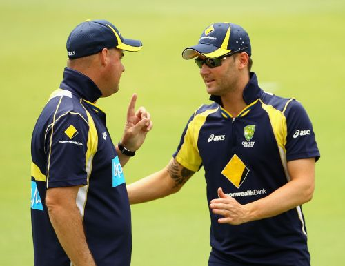 Michael Clarke and Mickey Arthur