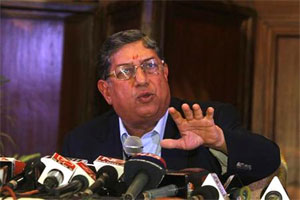 BCCI chief Srinivasan likely to step down on Sunday