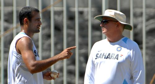 Irfan Pathan and Duncan Fletcher