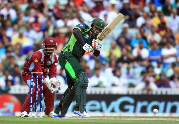 Nasir Jamshed plays a shot through leg side