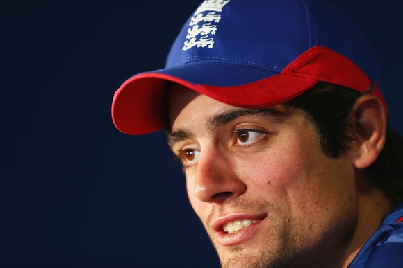 Alastair Cook captain of England during the England press conference