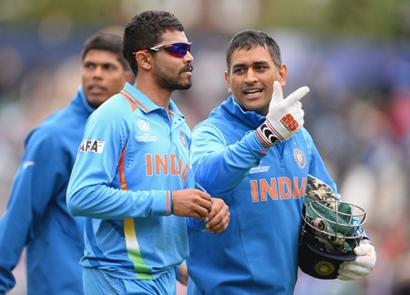 India captain M S Dhoni, Ravindra Jadeja and Umesh Yadav
