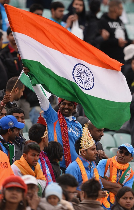 Indian fans at the ICC Champions Trophy