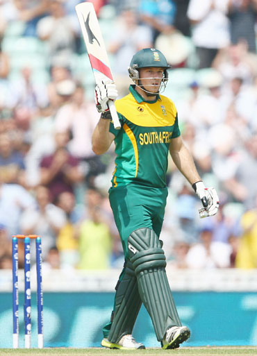 David Miller of South Africa celebrates completing his fifty