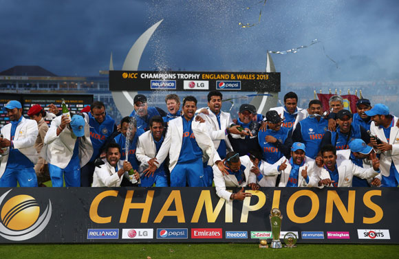 India Celebrations 2013 The India Squad Celebrate