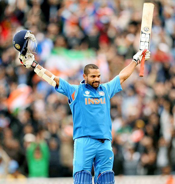 Dhawan moved up to a career-best 29th