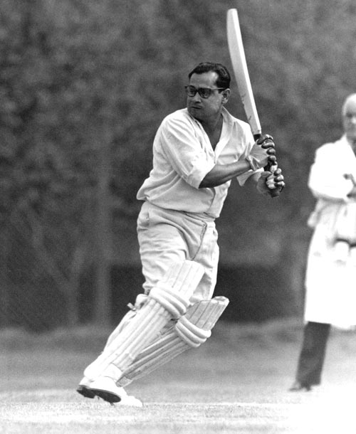 Pankaj Roy during a match against the Indian Gymkhana Cricket Club at Osterley Park, London, April 23, 1959.