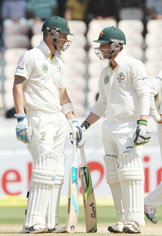 Michael Clarke Captain and Phillip Hughes
