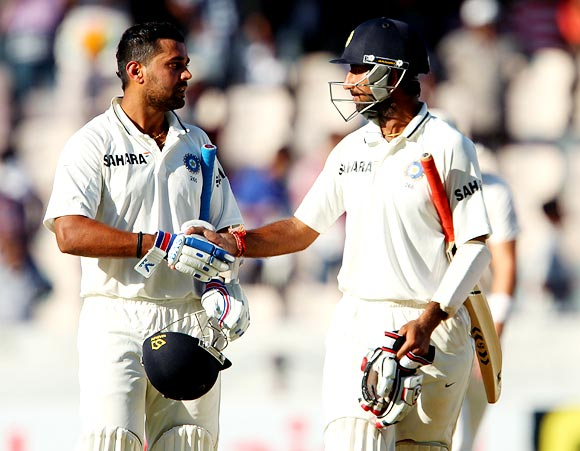 Murali Vijay (left) and Cheteshwar Pujara