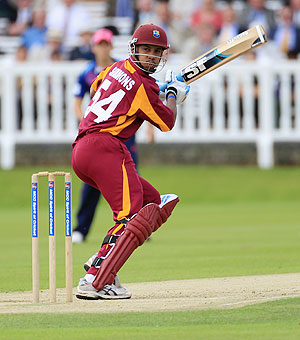 Lendl Simmons of the West Indies