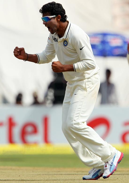 Jadeja leads India's victory charge