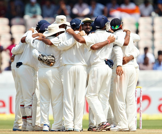 India team huddle