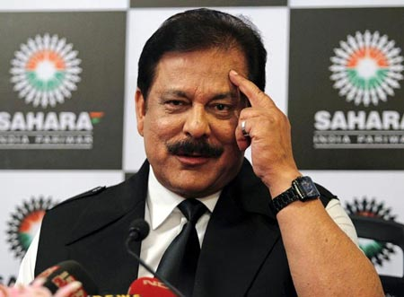 Subrata Roy Sahara, owner of Pune Warriors India