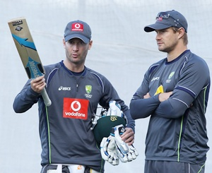 Michael Clarke talks to Shane Watson