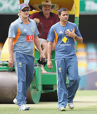 Shane Watson (left) and Usman Khawaja