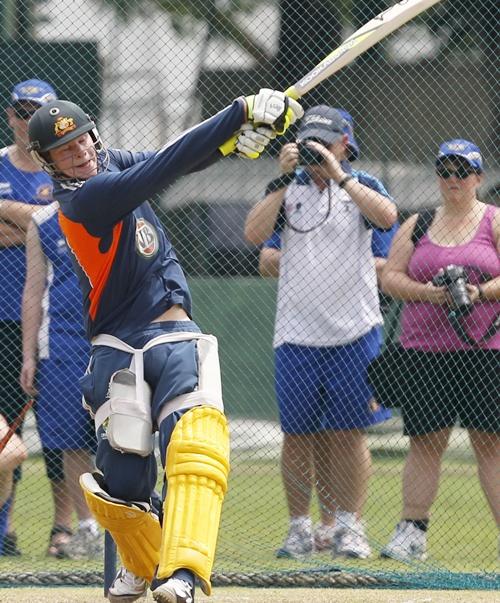 Australia's batsman Steven Smith