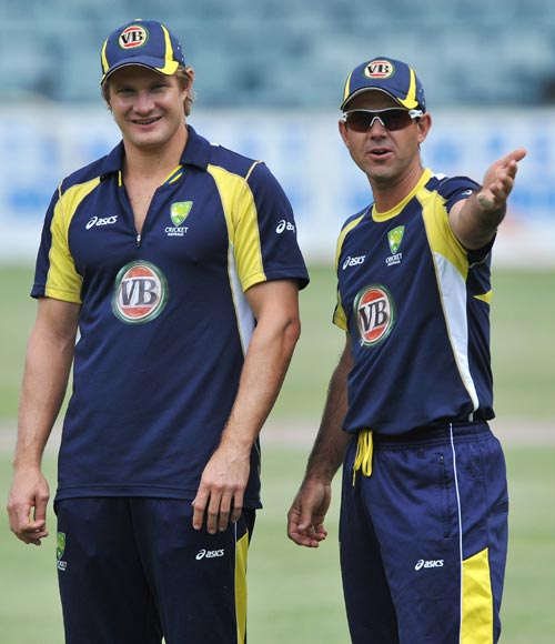 Shane Watson and Ricky Ponting
