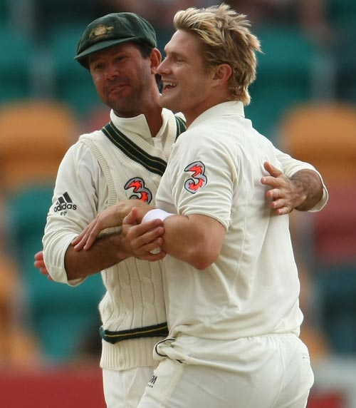 Ricky Ponting and Shane Watson