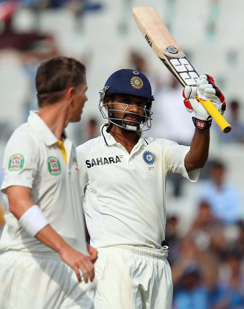 Dhawan's blitz leaves Aussies running for cover