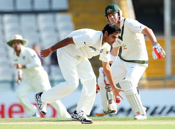 Bhuvanesh Kumar, the young UP medium pacer.