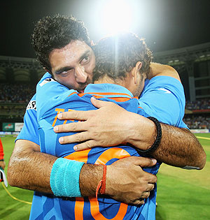 Sachin Tendulakr and Yuvraj Singh