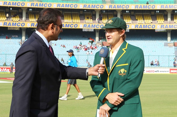 Ravi Shastri interviews Shane Watson ahead of the commencement of play