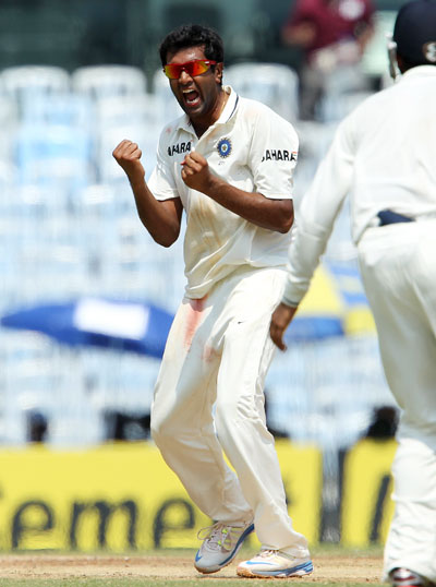 Ashwin now has 92 wickets in 16 Tests
