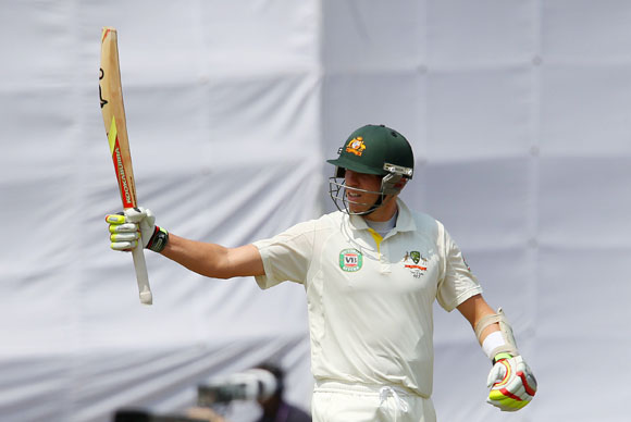 Peter Siddle celebrates his half century