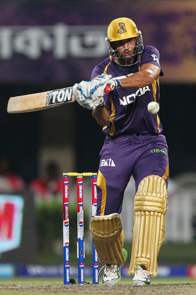 Yusuf Pathan lines up his shot